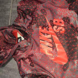 Boys Nike red hoodie
